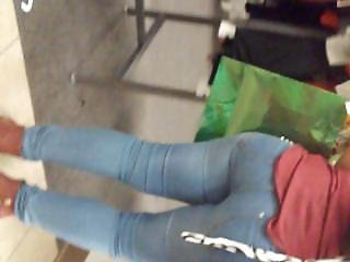 Sexy Latina In Super!! Tight Blue Jeans!