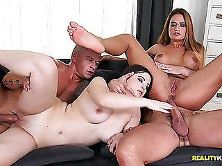European Women Nicole Vice And Nana Rammed Unfathomable In The Hot Snatches By Large Dongs