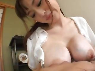 Asian Breastfeeding And And Sucking Jerking Off A Lucky Younger Man 3