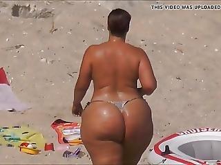 arsch, fetter arsch, bikini, hut, milf