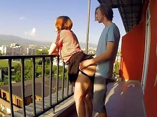 Public Sex On Balcony. Neighbors Were Delighted