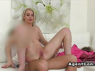 Slim Model Ride Dick Of Fake Agent