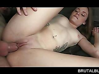 Pussy Banged Cutie Taking A Facial In Sex Bus