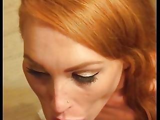 Redhead Swallows It All