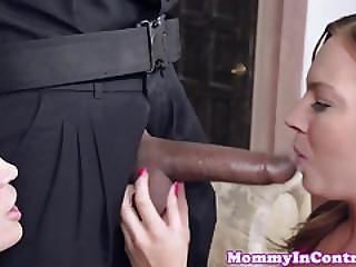 Bigtitted Milf Teaches Teen How To Deepthroat