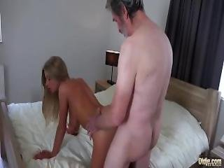 Old Man Fucked Young Blonde Teen Blowjob Doggystyle And Cumshot On Body