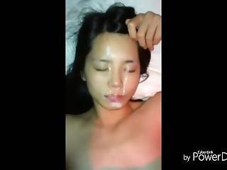 pipe, trio, éjaculation, mignonne, dans la tête, coréene