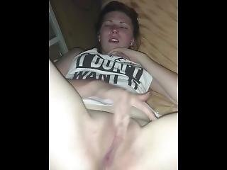 Step Sister Teasing And Rubbing Her Pussy