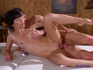 Massage Rooms Petite Brunette Sasha Colibri Oily Doggystyle Fucking