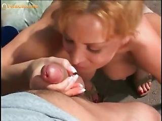 Amazing hungarian milf riding at the pool