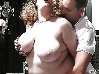He Bangs Curly Haired Bbw At Work