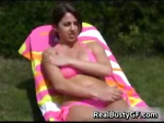Barely Legal Bigtit Chick Sun Bathing