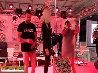 Funny Show With Hot Blonde Bigtits And Monster Black Dick