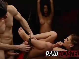 Shaved Pussy Stretched With Big Dick