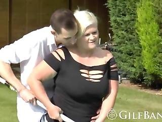 Pool Guy Is Cleaning The Swimming Pool When He Gets Seduced By A Hot Blonde Gilf In Desperate Need Of Dick So He Takes Her Inside And Bangs Her Pussy Like An Old Drum