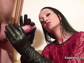 Leather Glovejob