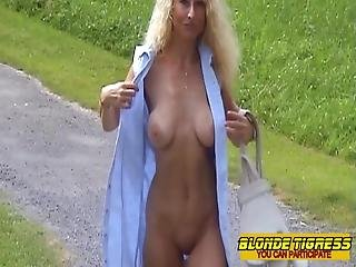 Amateur Milf In Public Parc With Dildo