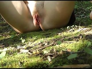 Pissing On The Mossy Forest Floor