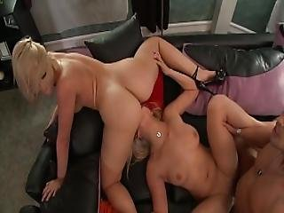 Two Blondes Fuck An Hard Cock