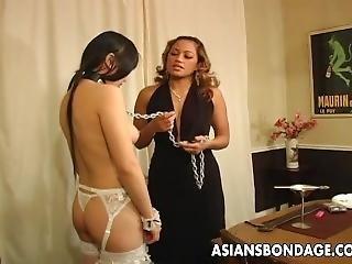Asian Freak Fest With Roped Up Waxed Sluts