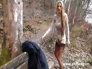 Fist Fucking The Wife S Pussy At The Park