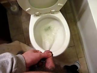 Long Desperate Pee In Toilet