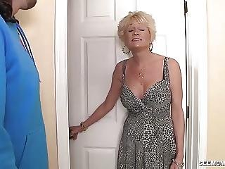Mature Slut Sucks A Young Cock