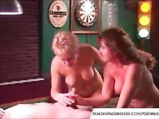 amatør, blowjob, matur, pool, offentlig, trekant, vintage