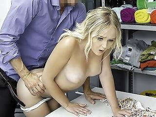 Shoplyfter - Pretty Busty Blonde Gets Fucked Hardcore By Big Dick Security