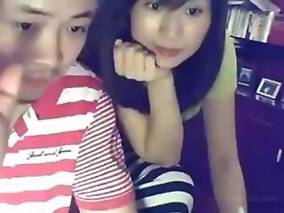 Self Shot Chinese Couple Making Love