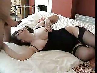 Busty Bed Blowjob With Money Shot