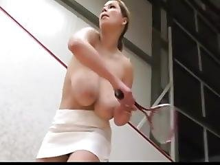 Fabulous Natural Knockers Doing Sports