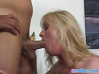 Busty Blonde Mom Fucks Her Lover Like Never Before