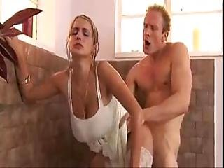 Bath Fuck With Busty Blonde