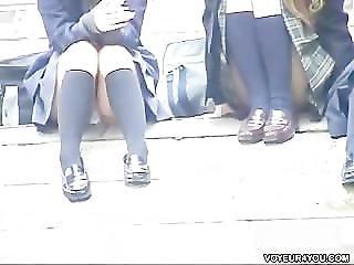 Voyeur Stair Open-wide Legs
