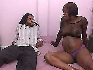 Black Pregnant Amateur Slut Enjoys Husbands Big Cock
