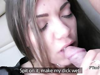 Brunette Flashes Pussy In Fake Taxi While Riding