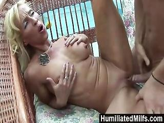 Humiliatedmilfs   Horny Milf Gets A Young Stud To Stuff Her Ravenous Pussy