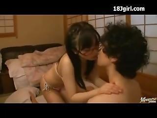 anaal, pijp, neuken, bril, japaans, jong
