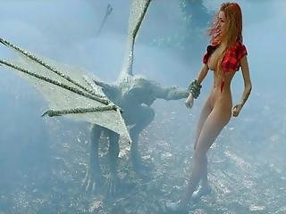 3d Athletic Big Titted Babe Gets Demolished In A Cemetary By A Flying Satanic Creature Who May Be Satan Himself!
