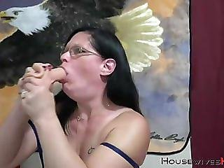 Horny mother devil fisting and gagging