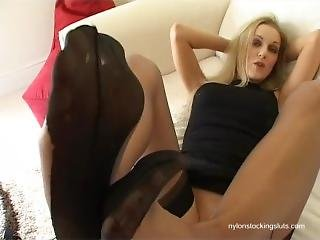 Vicki Ff Stocking Foot Tease