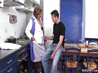 šukání, německé, babča, babičky, kuchyně, staré, mladé
