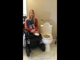 Quadriplegic Wheelchair Girl Transferring