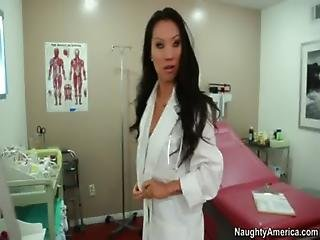 Asian Chick Asa Akira Plays Doctor And Fucks Married Man Her Office