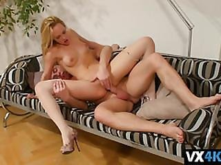 Sexy Blonde Blue Angel Moans While Getting Tight Pussy Impaled