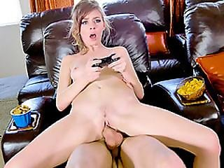Pretty Teen Teases Her Brothers Friend For A Super Hot Fuck