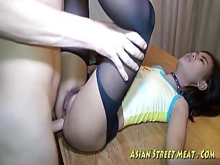 Asian Woman Dribbles Semen After Anal Intercourse