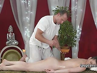 Blowjob, Couple, Cumshot, European, Fucking, Hardcore, Massage, Oiled, Orgasm, Table Fuck