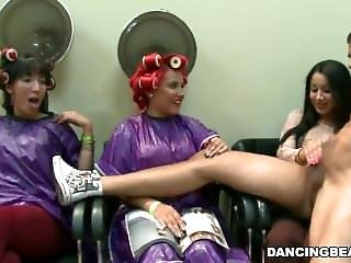 Latina, Cfnm Dancing Bear, Party In The Salon. Who Is She?